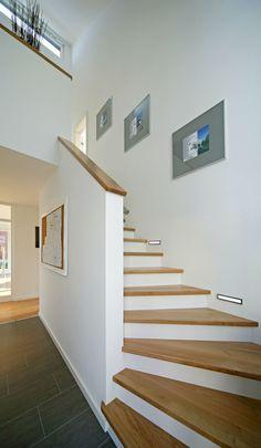 Treppe - stairs - Fertighaus - PlusEnergyHouse - Plusenergiehaus - Home - Interior Design Boards, Prefabricated Houses, Modern Stairs, House Stairs, Staircase Design, Staircase Decoration, Design Case, New Homes, House Ideas
