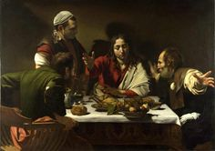 Peinture - Les 2 repas du Caravage