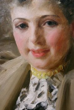 Anders Zorn Portrait of Magda Geber (detail) Traditional Paintings, Traditional Art, Portraits, Portrait Art, Figure Painting, Painting & Drawing, Beauty In Art, Found Art, Vintage Artwork