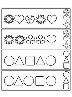 Complete The Pattern  Printable Worksheets Worksheets And Shapes