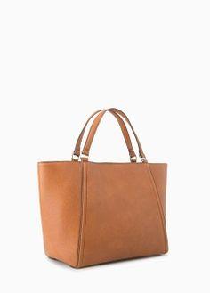 Genarbte Shopper-Tasche