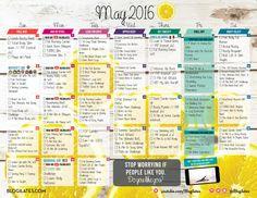 May 2016 Blogilates Workout Calendar!   Blogilates- DO IT!