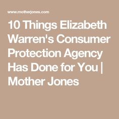 news trump eviscerate warrens consumer protection agency