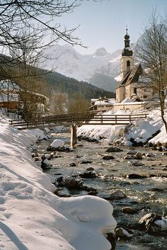 This winter scene in Ramsau, Bavaria, Germany would make a perfect postcard (by MRP46).