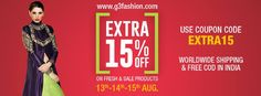 Celebrate our Freedom with our Special Offer - G3 Fashion Freedom Sale with Extra 15% Off on All Website Products! Starting from the 13th to 15th August 2016, View Website Collection g3fashion.com #sale #eoss #discounts #extra15  #Happyshopping #independencesale #independence #flat50  #menswear  #rushnow #fashionupdate #fashionnews   #salealert #sale #instasale #instaupdate #instanews