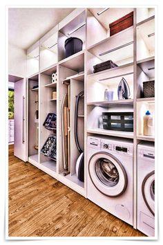 58 Stylish Laundry Room Design Ideas To Inspiring You > Fieltro.Net room ideas modern stylish laundry room design ideas to inspiring you 10 > Fieltro. Modern Laundry Rooms, Laundry Room Layouts, Laundry Room Remodel, Laundry Room Cabinets, Laundry Room Organization, Storage Organization, Storage Ideas, Storage Design, Wall Storage