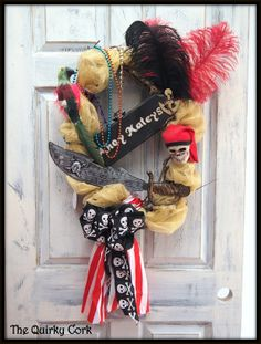 Gasparilla Wreath by TheQuirkyCork on Etsy, $40.00