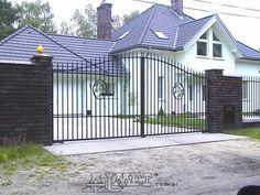 Wrought iron gates and fences metal Wrought Iron Fences, Driveway Gate, Gate Design, Blacksmithing, Metal, Outdoor Decor, House, Home Decor, Garden