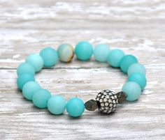 Amazonite Matte Blue Beaded Bracelet