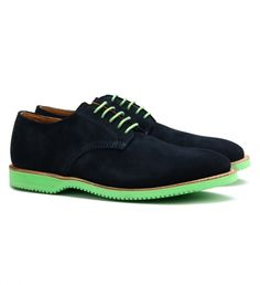 Chase Suede Shoe by Walk-Over $345 | Walkover shoes feature a Goodyear welt construction, a cushioned leather footbed, and calf leather lining for extra comfort and longevity. Make your admirers green with envy by matching your shoelaces to the coloured sole | GOTSTYLE.ca
