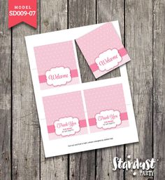 TENT CARDS Minnie Mouse Printable Kids Party Creative Model SD009-07