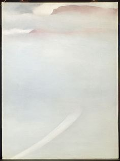 """Georgia O'Keeffe (1887-1986), """"Road - Mesa with Mist"""" - The Art Institute of Chicago ~ Chicago, Illinois, USA"""