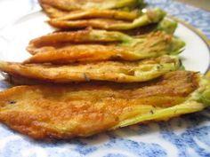 Zucchini Blossom Fritters-Frittelle di Fiori di Zu