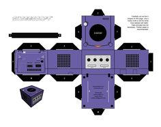papercraft game cube