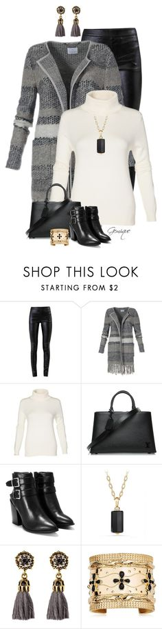 """""""Untitled #2472"""" by gemique ❤ liked on Polyvore featuring Helmut Lang, Louis Vuitton, Nasty Gal, David Yurman and Aurélie Bidermann"""