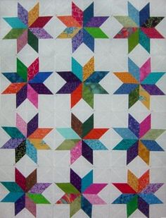 Lemoyne Star Quilt - the one I can't find again is the same shape with different color layout.