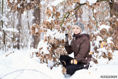 Girl in the winter forest. https://en.fotolia.com/id/132223829 #fotolia #portrait #girl #woman #winter #forest #nature #landscape #travel #여성 #女性 #امرأة