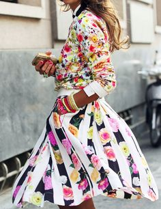 #Trend #Mixed Patterns  #Florals
