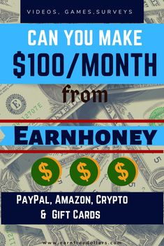 Looking for more ways to make passive income? Read more to know how to make money for watching videos on EarnHoney Online Work From Home, Work From Home Jobs, Make Money From Home, Way To Make Money, Make Money Online, Online Earning, Online Jobs, Apps That Pay, Get Rich Quick