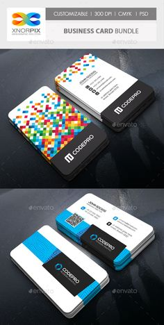 Business Card Bundle — PSD Template #standard #corporate • Download ➝ https://graphicriver.net/item/business-card-bundle/18513891?ref=pxcr