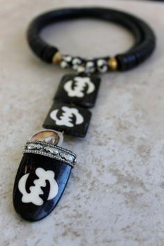 Exotic Black Bone Choker by BeadyEyedBird on Etsy, $25.00