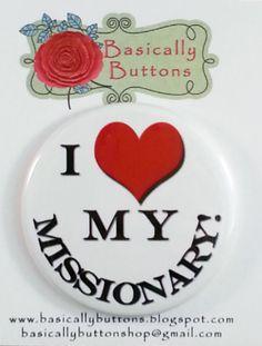 """2.25 """"""""Me encanta a mi misionero""""botón de imán"""