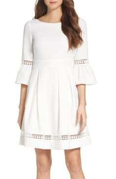 Main Image - Eliza J Bell Sleeve Dress (Regular & Petite)
