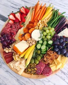 Beautiful vegetable & cheese tray