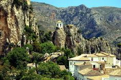 Castell de Guadalest, Espana  Visited here decades ago.  An amazing old world Spain, with village and monastery built on top of a rocky outcrop.