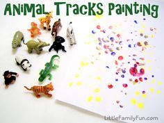 Little Family Fun: Colored Animal Tracks