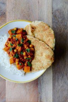 Recept: Herfstige curry met pompoen en kikkererwten