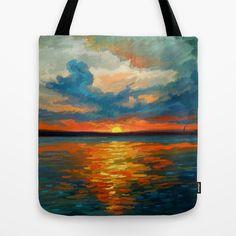 Sunset Impression Tote Bag by Remus Brailoiu - $22.00