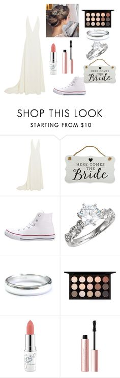 """""""Wedding"""" by summer-neal ❤ liked on Polyvore featuring Michael Lo Sordo, New View, Converse, Tiffany & Co., MAC Cosmetics and Too Faced Cosmetics"""