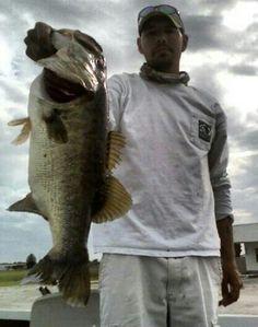 Bass fishing okeechobee lake