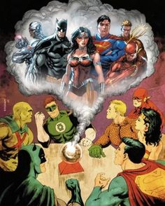 The Justice League the old and the new by Tyler Kirkham. -AQ by the_justice_league_of_america