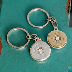 Bullet Jewelry Bullet Keychain w/ Silver / by RicochetRounds