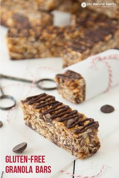 Gluten-free Granola Bars Recipe {Almond Butter Chocolate Chip}