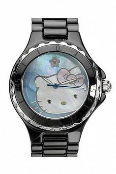 HELLO KITTY Ceramic Swiss Movement Ladies Watch  $1,200.00 Retail CAD  $583.00 CAD