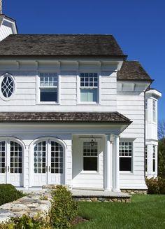 Home Exterior ~ White Siding ~ Porch