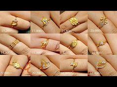 Latest Gold Ring Designs, Latest Gold Jewellery, Gold Jewellery Design, Bead Jewellery, Gold Rings Jewelry, Jade Jewelry, Womens Jewelry Rings, Gold Earrings, Women Jewelry