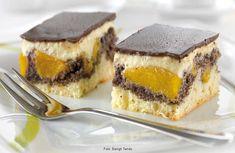 Mákos, barackos Balaton szelet --- sütőporos sütemény