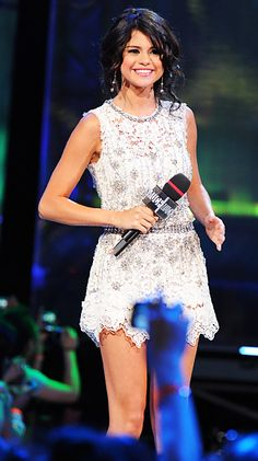 Selena Gomez sparkled in an embellished Dolce and Gabbana mini dress at the 2011 MuchMusic Video Awards.