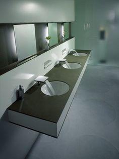 Commercial bathroom ideas on pinterest restroom design for Commercial bathroom lighting