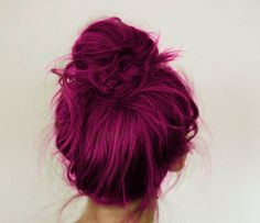 I love coloured messy buns they look so fun