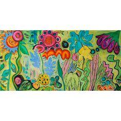 "I found this on www.meringueinc.ca; ""Mind's Eye Bloom"";  Original painting by Helen Billett;   Acrylic on Canvas;   48"" x 24"";   1.5"" stretcher depth"