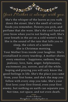 Your Mother is Always with You via @Ineedaplaydate