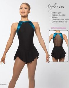 Blue Black Ice Skating Dresses Girls Brad Griffies BN1724