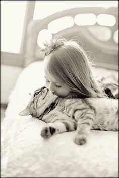 L'amour d'un enfant pour un animal