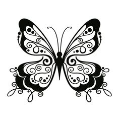 wall tattoo fantastic butterfly  #silhouette #digistamp