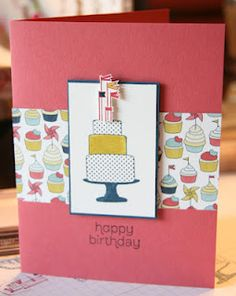Stamping with Kim: Make a Cake, Patio party DSP, Stampin Up!